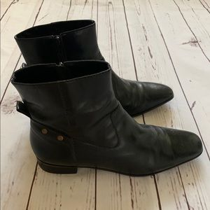 Talbots Black Leather Ankle Boot